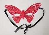Маска бабочка красная 47313-1-MM