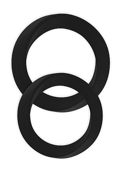 Два эрекционных кольца Infinity M and L Black SH-MJU016BLK