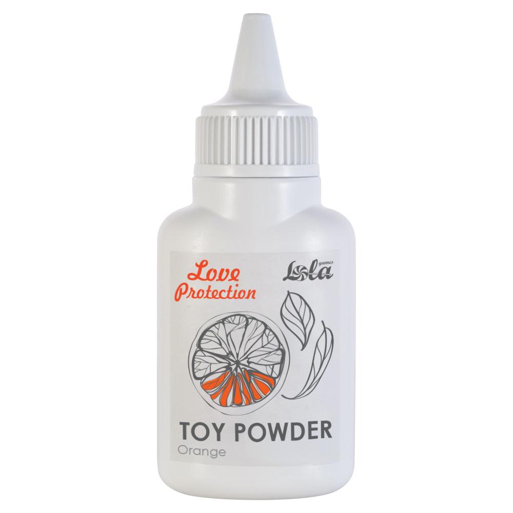 Пудра для игрушек ароматизированная Love Protection Orange 15g 1829-00Lola