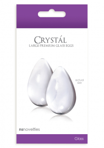 Стимуляторы CRYSTAL LARGE GLASS EGGS CLEAR NSN-0703-21