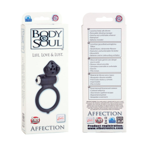 Виброкольцо BODY&SOUL AFFECTION BLACK 1380-40BXSE