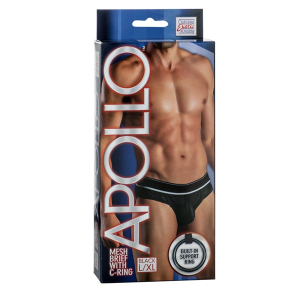 Мужские трусы Apollo Mesh Brief with C-Ring - BLK L/XL 4204-05BXSE