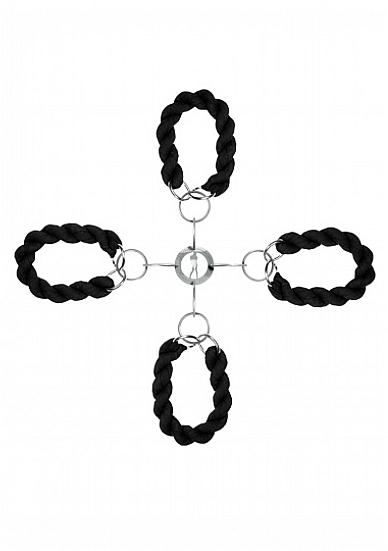 Комплект для бондажа Hand & Legcuffs SH-OULUX002
