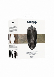 Мастурбатор SONO No71 Vibrating Black SH-SON071BLK