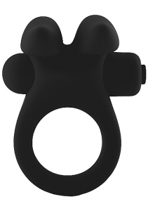 Виброкольцо Bunny Cockring Black SH-MJU009BLK
