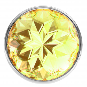 Анальная пробка Diamond Yellow Sparkle Small 4009-02Lola