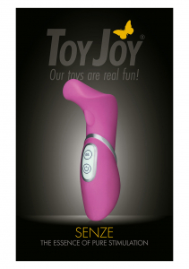 Вибромассажер SENZE VIBRATING STIMULATOR PINK 10059TJ