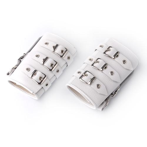 Манжеты кожаные белые 3054-3