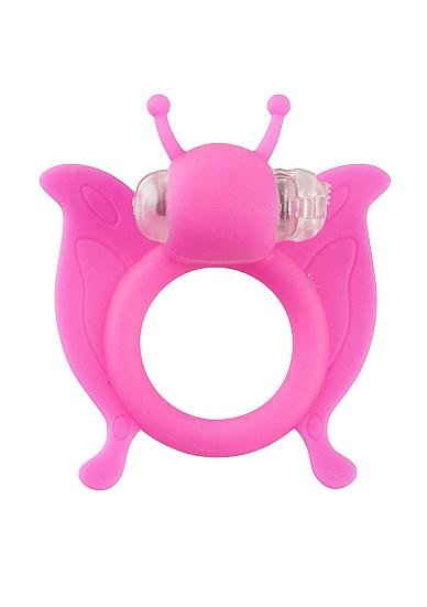 Виброкольцо Butterfly - Pink SH-SLI003