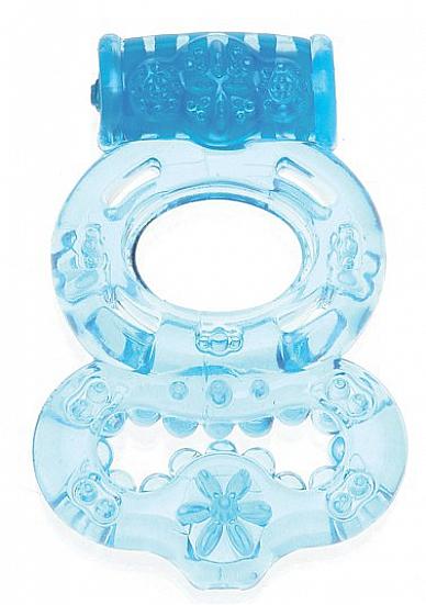 Вибрирующее кольцо Blue SH-SHT005BLU