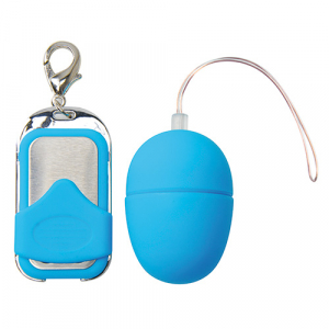 Вибромасажер VIBRATING EGG PLEASURE SHIVER SMALL BLUE T4L-801012