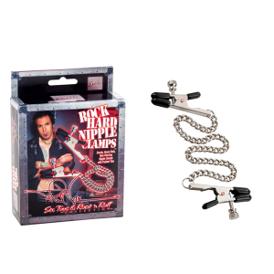 Цепочка для груди Phil Varone Rock Hard Nipple Clamps Black 2975-40BXSE