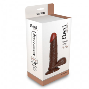 Фаллоимитатор REALISTIC DILDO REAL RAPTURE BROWN 6.5'' T4L-00700690