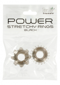 POWER STRETCHY RINGS Black 2PCS 9936TJ
