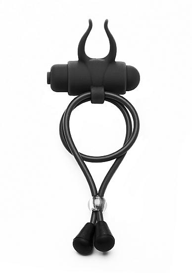 Утягивающее лассо с вибрацией The Devil - Black SH-SHT215BLK