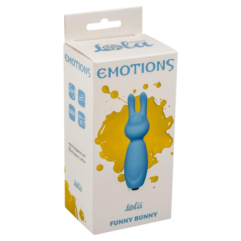 Мини вибратор Emotions Funny Bunny Blue 4007-01Lola