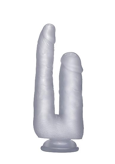 """Двойной фаллоимитатор Realistic Cock 9"""" Transparent SH-REA058TRA"""