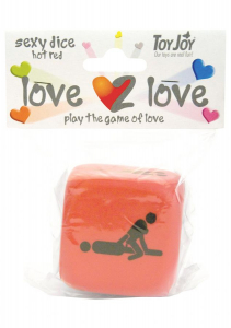 Кубики для игр LOVE2LOVE SEXY DICE RED 9761TJ