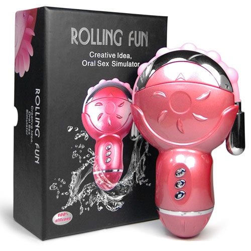 Клиторальный стимулятор с анальным отростком Rolling Fun BI-014100
