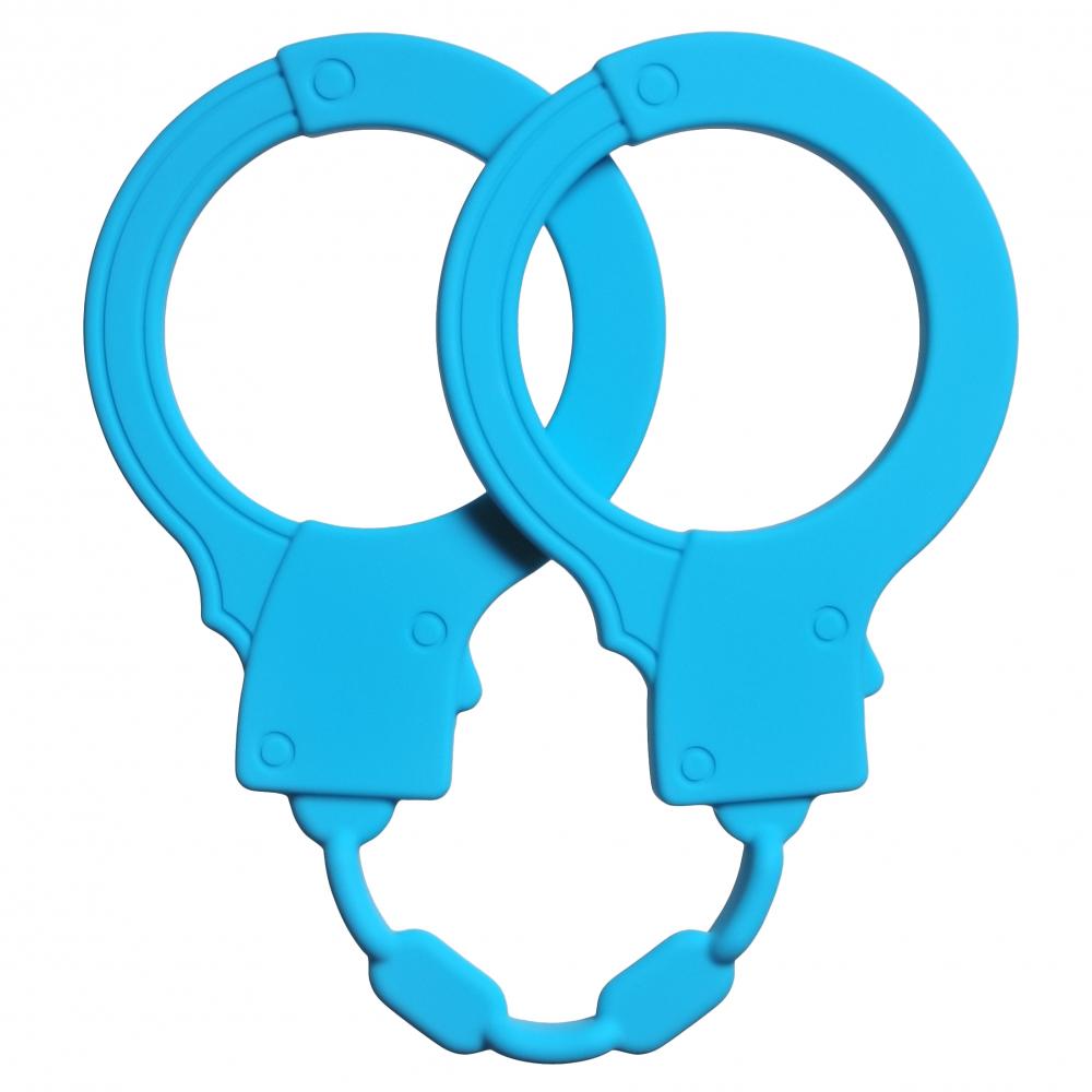 Силиконовые наручники Stretchy Cuffs Turquoise 4008-03Lola