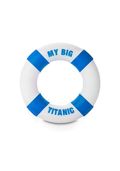 Кольцо на пенис Buoy My Big Titanic Blue SH-SLI081BLU