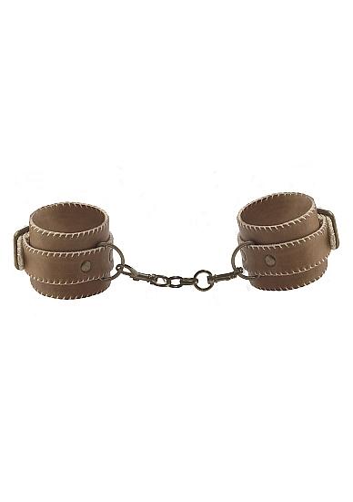 Кожаные наручники OUCH! Brown SH-OU179BRN