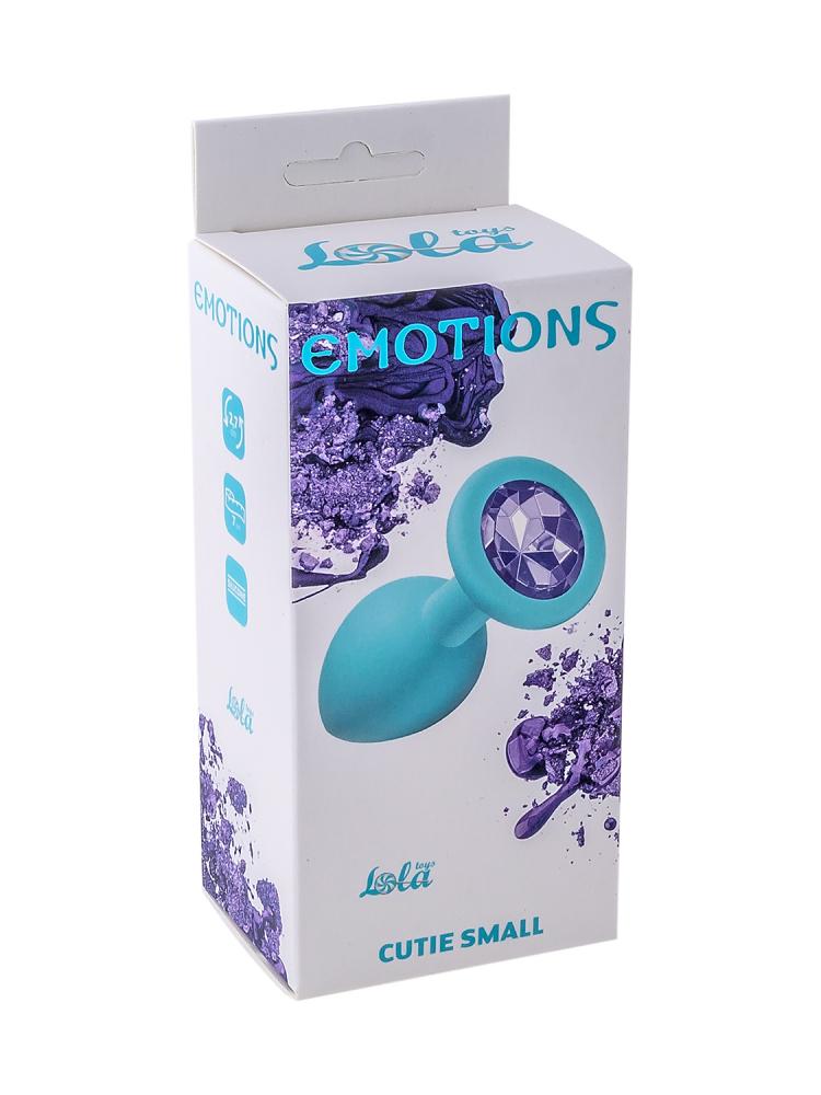 Анальная пробка Emotions Cutie Small Turquoise light purple crystal 4011-05Lola