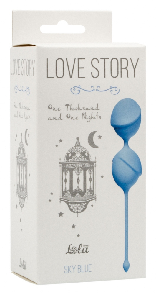 Вагинальные шарики Love Story One Thousand and One Nights Sky Blue 3004-04Lola