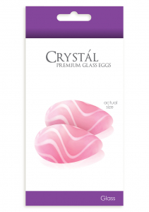 Стимуляторы CRYSTAL GLASS EGGS PINK NSN-0703-14
