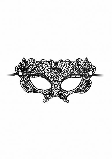 Ажурная маска на глаза OUCH! Princess Black SH-OU318BLK