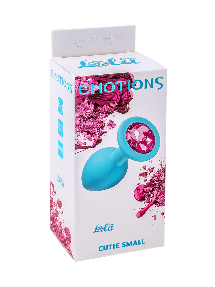 Анальная пробка Emotions Cutie Small Turquoise pink crystal 4011-06Lola