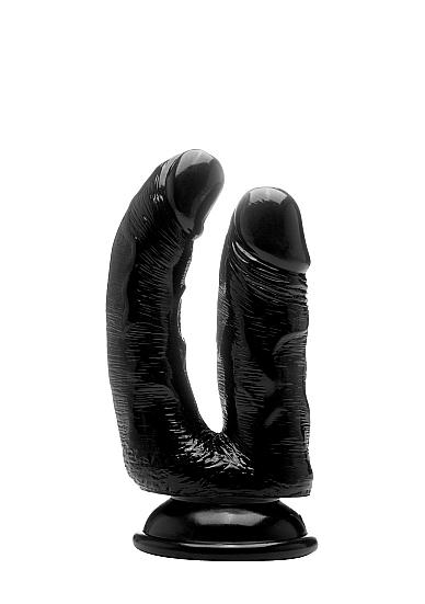 "Двойной фаллоимитатор Realistic Cock 6,5"" Black SH-REA057BLK"