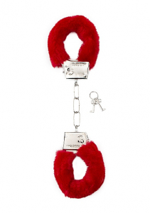 Наручники Furry Handcuffs Red SH-SHT255RED