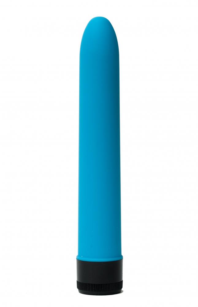 Классический силиконовый вибратор 2,8х18см, синий 47506-MM