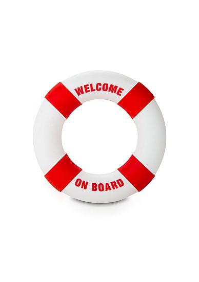 Кольцо на пенис Buoy Welcome On Board Red SH-SLI080RED