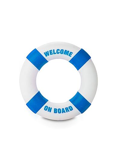 Кольцо на пенис Buoy Welcom on Board Blue SH-SLI080BLU