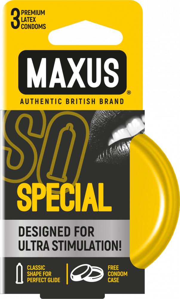 Презервативы точечно-ребристые MAXUS Special №3 ж/к
