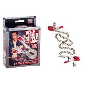 Цепочка для груди Phil Varone Rock Hard Nipple Clamps Red 2975-50BXSE
