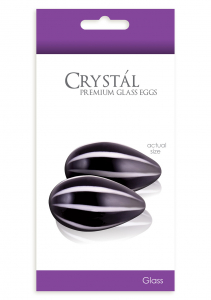 Стимуляторы CRYSTAL GLASS EGGS BLACK NSN-0703-13