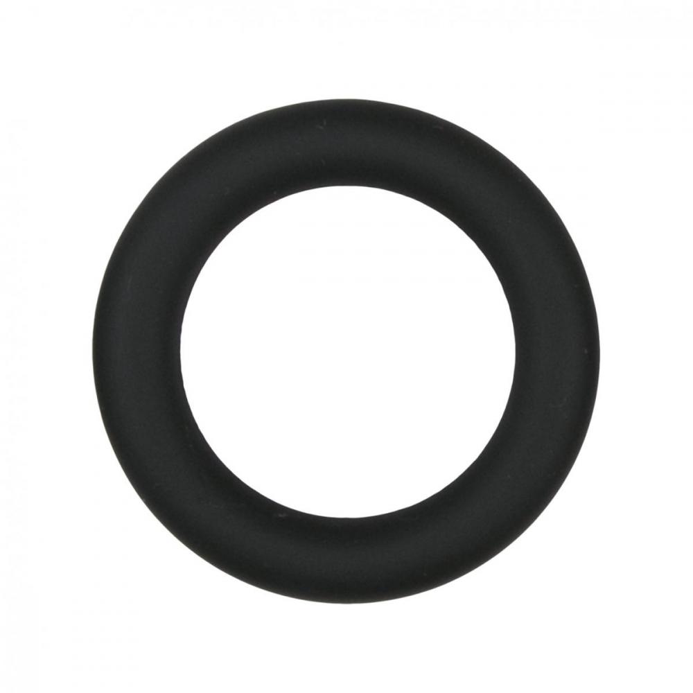Эрекционное кольцо Easytoys Silicone Cock Ring Black medium ET085BLK-M