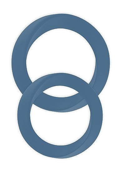 Два эрекционных кольца Infinity M and L Blue SH-MJU016BLU