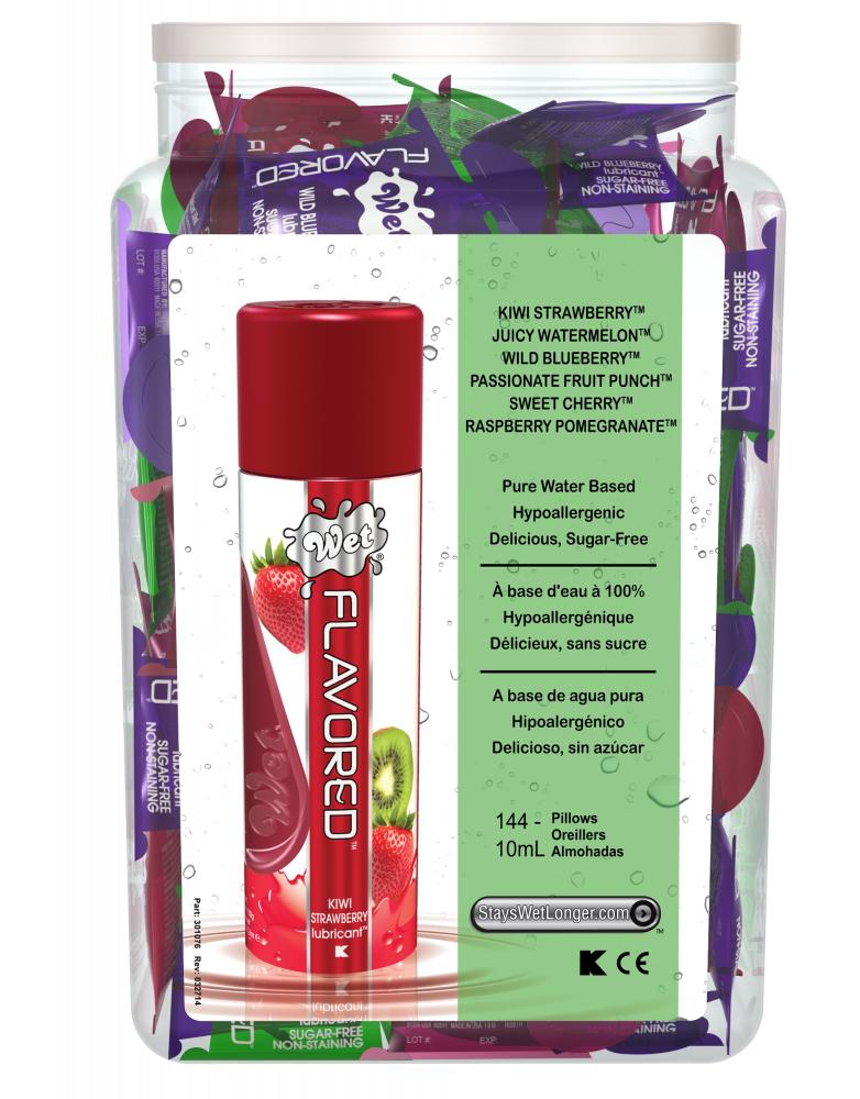 Wet Flavored набор из 144 подушечек по 10 ml в ассортименте 23411wet