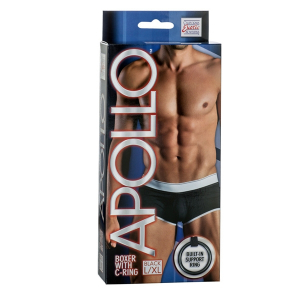 Мужские трусы Apollo Boxer with C-Ring -BLK L/XL 4202-05BXSE