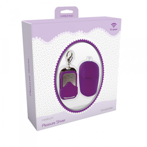 Вибромасажер VIBRATING EGG PLEASURE SHIVER MEDIUM PURPLE T4L-801006