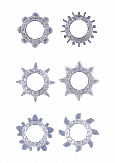 Набор Эрекционных колец Transparent SH-GC025TRA