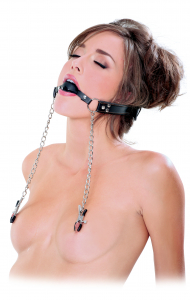 Кляп FF EXTREME DELUXE BALL GAG & NIPPLE 367123PD