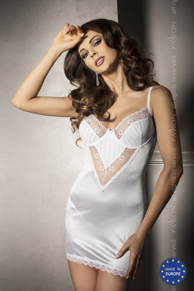 Чувственное платье с кружевными вставками и трусики ANGIE L/XL 12972PAS