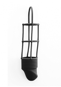 Насадка на пенис Ribbed Cockcage Black SH-SHT211BLK
