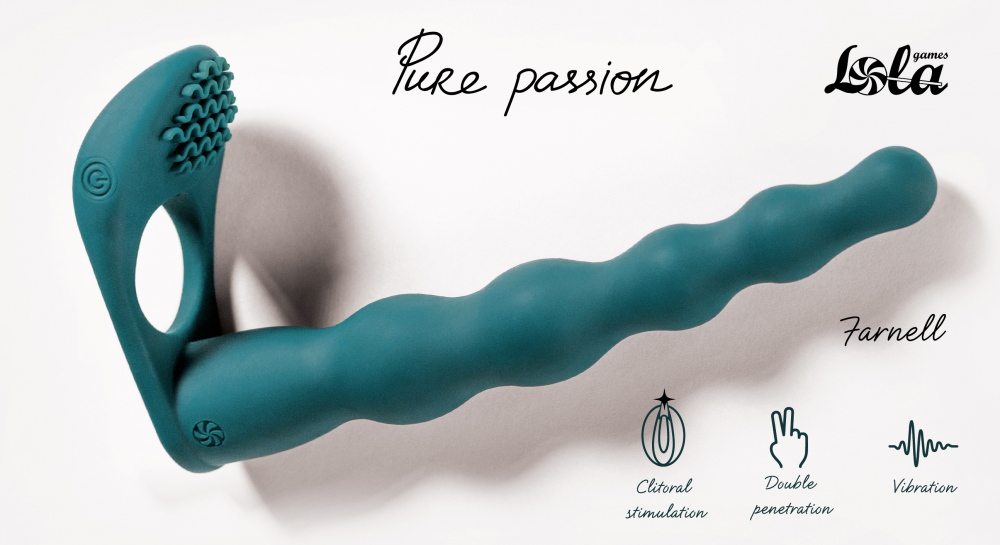 Вибронасадка для Двойного Проникновения Pure Passion Farnell Green 1203-03lola