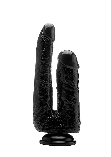 "Двойной фаллоимитатор Realistic Cock 9"" Black SH-REA058BLK"